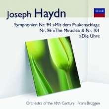 Joseph Haydn (1732-1809): Symphonien Nr.94,96,101, CD