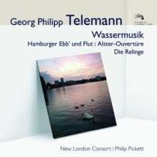 "Georg Philipp Telemann (1681-1767): Wassermusik ""Hamburger Ebb & Fluth"", CD"