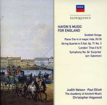 Joseph Haydn (1732-1809): Haydn's Music For England, CD