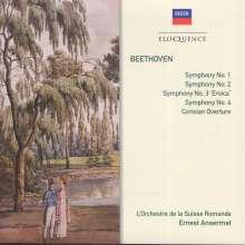 Ludwig van Beethoven (1770-1827): Symphonien Nr.1-4, 2 CDs