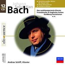 Johann Sebastian Bach (1685-1750): Die Werke für Klavier solo, 12 CDs