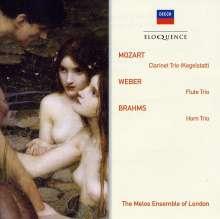 """Wolfgang Amadeus Mozart (1756-1791): Klarinettentrio KV 498 """"Kegelstatt-Trio"""", CD"""