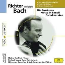 Johann Sebastian Bach (1685-1750): Karl Richter dirigiert geistliche Werke, 10 CDs