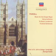 Henry Purcell (1659-1695): Anthems for the Chapel Royal, 2 CDs