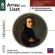 Franz Liszt (1811-1886): Claudio Arrau spielt Liszt, 6 CDs