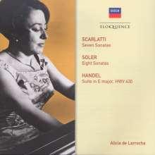 Alicia de Larrocha -  Scarlatti / Soler / Händel, CD