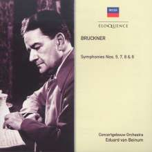 Anton Bruckner (1824-1896): Symphonien Nr.5,7,8,9, 4 CDs