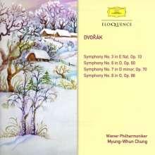 Antonin Dvorak (1841-1904): Symphonien Nr. 3, 6-8, 2 CDs