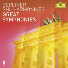 Berliner Philharmoniker - Great Symphonies, 8 CDs