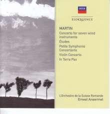 Frank Martin (1890-1974): Konzert für 7 Bläser, Pauken, Percussion, Streicher, 2 CDs