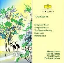Peter Iljitsch Tschaikowsky (1840-1893): Symphonien Nr.3 & 5, 2 CDs