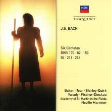 Johann Sebastian Bach (1685-1750): Kantaten BWV 56,82,159,170,211,212, 2 CDs