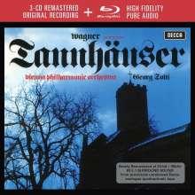 Richard Wagner (1813-1883): Tannhäuser (Deluxe-Ausgabe mit Blu-ray Audio), 3 CDs
