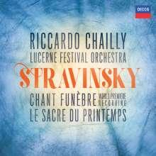 Igor Strawinsky (1882-1971): Chant funebre op.5, CD
