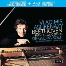 Ludwig van Beethoven (1770-1827): Klavierkonzerte Nr.1-5 (3CDs +Blu-ray Audio), 3 CDs