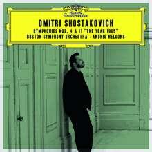 """Dmitri Schostakowitsch (1906-1975): Symphonien Nr. 4 & 11 """"Das Jahr 1905"""", 2 CDs"""