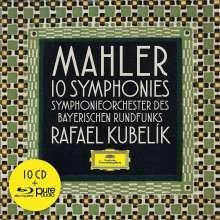 Gustav Mahler (1860-1911): Symphonien Nr.1-10 (mit Blu-ray Audio), 10 CDs