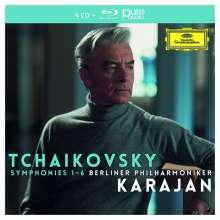 Peter Iljitsch Tschaikowsky (1840-1893): Symphonien Nr.1-6 (mit Blu-ray Audio), 4 CDs