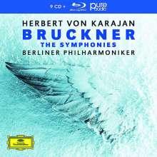 Anton Bruckner (1824-1896): Symphonien Nr. 1-9 (mit Blu-ray Audio), 9 CDs und 1 Blu-ray Audio