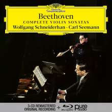Ludwig van Beethoven (1770-1827): Violinsonaten Nr.1-10 (mit Blu-ray Audio), 3 CDs und 1 Blu-ray Audio