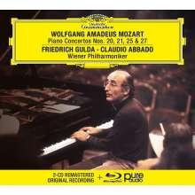 Wolfgang Amadeus Mozart (1756-1791): Klavierkonzerte Nr.20,21,25,27 (mit Blu-ray Audio), 2 CDs und 1 Blu-ray Audio