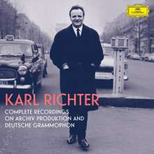 Karl Richter - Complete Recordings on Archiv Produktion & Deutsche Grammophon, 97 CDs und 3 Blu-ray Audio