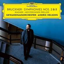 Anton Bruckner (1824-1896): Symphonien Nr.2 & 8, 2 CDs