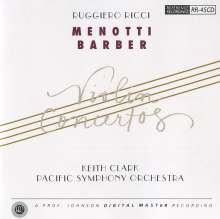 Gian-Carlo Menotti (1911-2007): Violinkonzert, CD