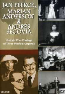 Jan Peerce, Marian Anderson & Andres Segovia, DVD