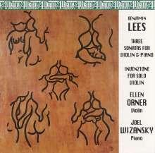 Benjamin Lees (1924-2010): Violinsonaten Nr.1-3, CD