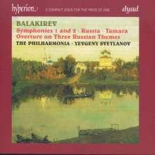 Mily Balakireff (1837-1910): Symphonien Nr.1 & 2, 2 CDs