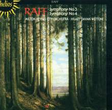 Joachim Raff (1822-1882): Symphonien Nr.3 & 4, CD