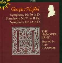 Joseph Haydn (1732-1809): Symphonien Nr.70-72, CD