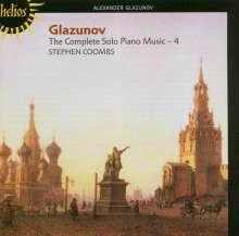 Alexander Glasunow (1865-1936): Klavierwerke Vol.4, CD