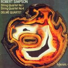Robert Simpson (1921-1997): Streichquartette Nr.1 & 4, CD
