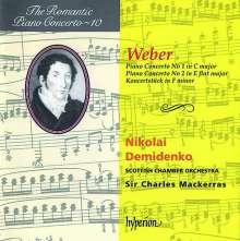 Carl Maria von Weber (1786-1826): Klavierkonzerte Nr.1 & 2, CD