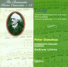 Henry Litolff (1818-1891): Concertos Symphoniques Nr.2 & 4 für Klavier & Orchester, CD