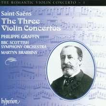 Camille Saint-Saens (1835-1921): Violinkonzerte Nr.1-3, CD
