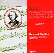 Henri Herz (1803-1888): Klavierkonzerte Nr.1,7,8, CD
