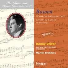 York Bowen (1884-1961): Klavierkonzerte Nr.3 & 4, CD