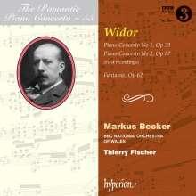 Charles-Marie Widor (1844-1937): Klavierkonzerte Nr.1 & 2, CD