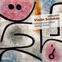 Erwin Schulhoff (1894-1942): Violinsonaten Nr.1 & 2, CD