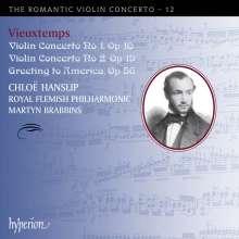 Henri Vieuxtemps (1820-1881): Violinkonzerte Nr.1 & 2, CD