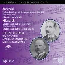 Emil Mlynarski (1870-1935): Violinkonzerte Nr.1 & 2, CD
