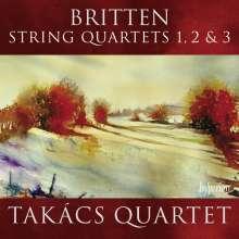 Benjamin Britten (1913-1976): Streichquartette Nr.1-3, CD
