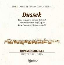 Johann Ludwig Dussek (1760-1812): Klavierkonzerte op.1 Nr.3, op.29, op.70, CD