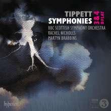 Michael Tippett (1905-1998): Symphonien Nr.3 & 4, 2 CDs