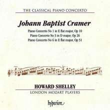 Johann Baptist Cramer (1771-1858): Klavierkonzerte Nr.1,3,6, CD
