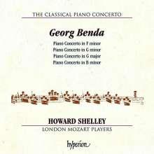 Georg Anton Benda (1722-1795): Klavierkonzerte f-moll,G-Dur,g-moll,h-moll, CD