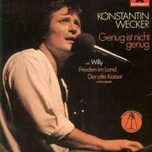 Konstantin Wecker: Genug ist nicht genug, CD